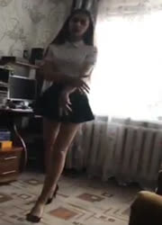 hot girls in school uniform teasing on periscope
